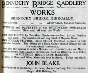 Bennochy Bridge Saddlery Works- John Blake
