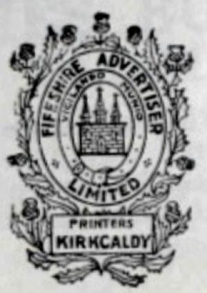 Fifeshire Advertiser Limited Printers Kirkcaldy