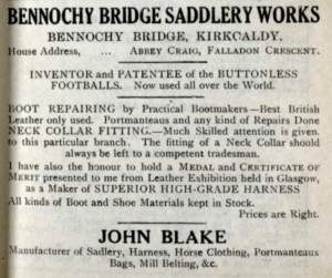 Bennochy Bridge Saddlery Works - John Blake
