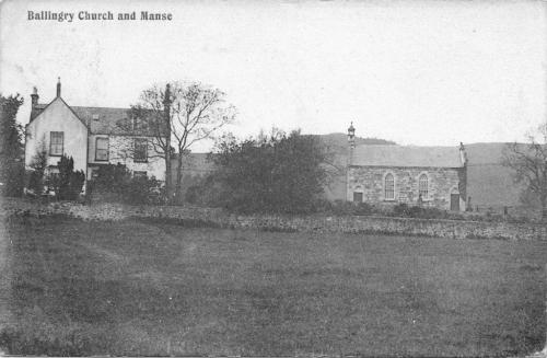 Ballingry, Church and Manse 1906 (LF)