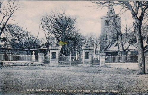 Crail, War Memorial Gates and Church - eBay