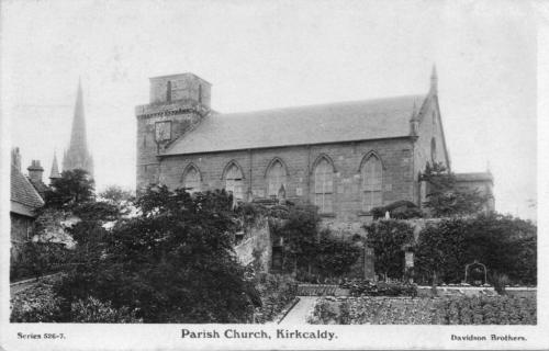 Kirkcaldy, Old Parish Church 1915 (LF)
