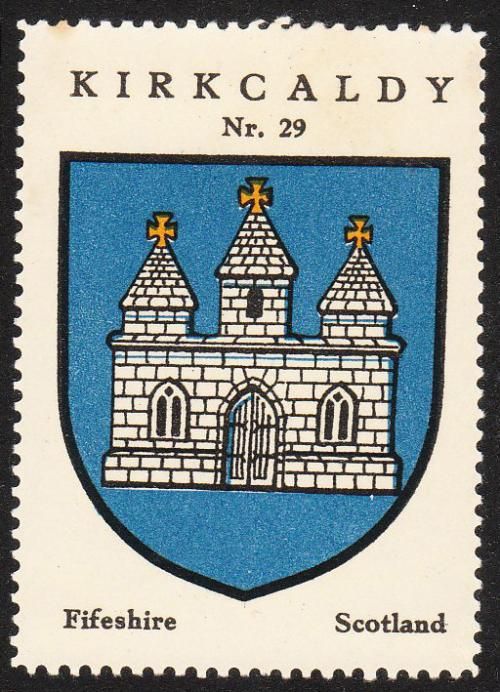 Kirkcaldy, Poster Stamp of Coat of Arms
