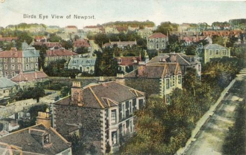 Newport, Birdseye View of Newport 1904