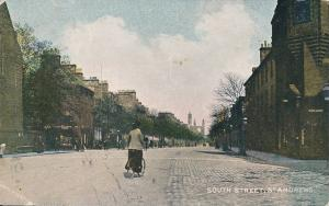 St Andrews, South Street Lady on Bicycle - eBay